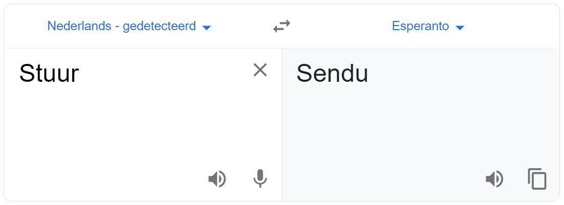 Sendu vertaling